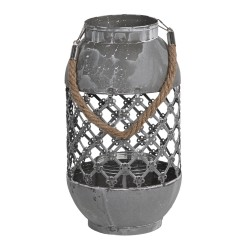 Ażurowy Lampion Metalowy Szary C Clayre & Eef