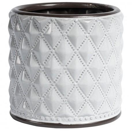 Biała okrągła ceramiczna osłonka Belldeco