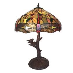 Lampa Tiffany Witrażowa Stołowa A Clayre & Eef
