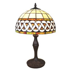 Lampa Tiffany Witrażowa Stołowa B Clayre & Eef