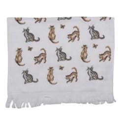 Ręcznik Do Rąk w Stylu Prowansalskim z Kotami i Motylami B Clayre & Eef