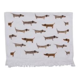 Ręcznik Do Rąk w Stylu Prowansalskim z Jamnikami Clayre & Eef