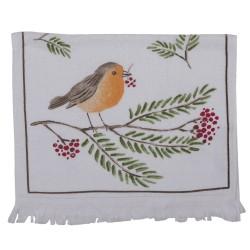 Ręcznik Do Rąk w Stylu Prowansalskim z Ptaszkiem Clayre & Eef