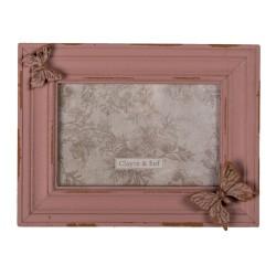 Ramka Na Zdjęcia w Stylu Prowansalskim Różowa F Clayre & Eef