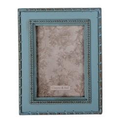 Ramka Na Zdjęcia w Stylu Prowansalskim Niebieska C Clayre & Eef
