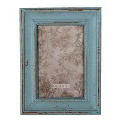 Ramka Na Zdjęcia w Stylu Prowansalskim Niebieska D Clayre & Eef