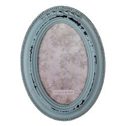 Ramka Na Zdjęcia w Stylu Prowansalskim Niebieska F Clayre & Eef