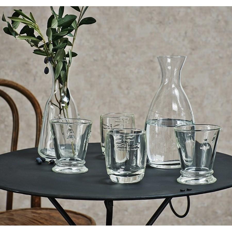 Szklanki prowansalskie z motywem owadów z kolekcji La Rochere