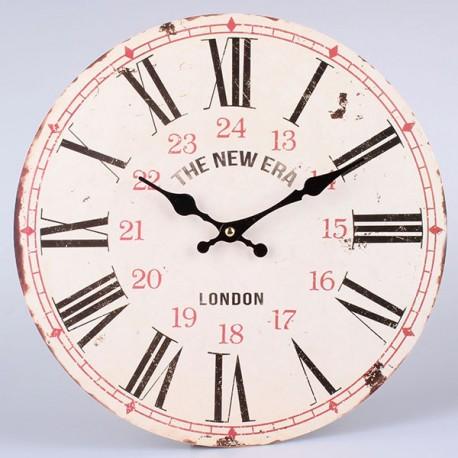 JAsny zegar w stylu vintage z rzymskimi czarnymi cyframi