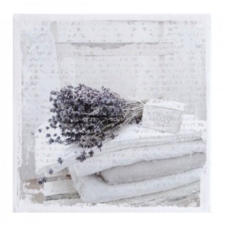 Dekoracyjny jasny kwadratowy obraz z lawendą