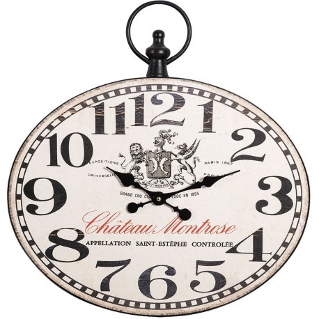 Owalny jasny zegar belldeco