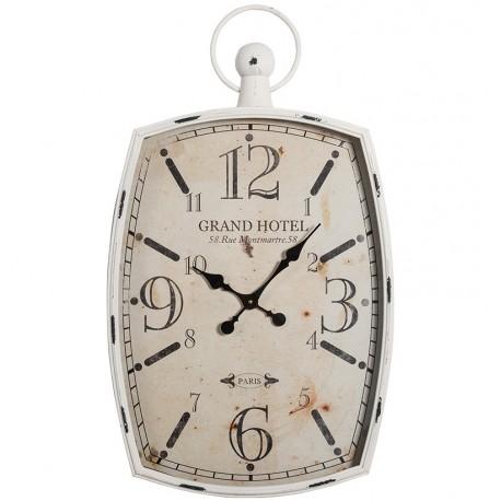 retro zegar w szaro jasnej metalowej ramie