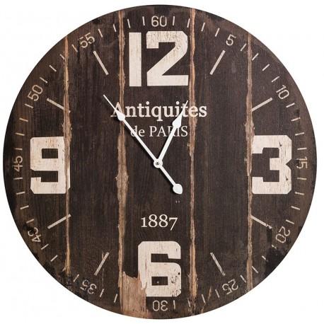 Ciemny zegar z dużymi arabskimi cyframi
