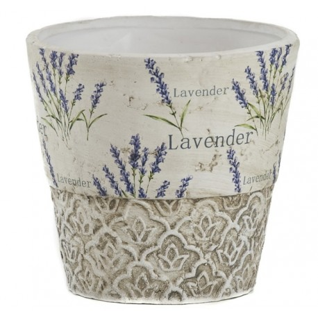 Ceramiczna osłonka z lawendą
