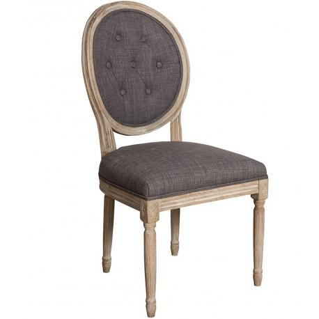 Ciemne krzesło Belldeco o okrągłym oparciu