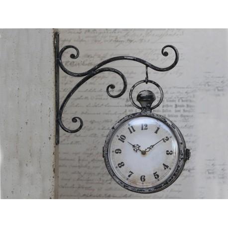 Rewelacyjny zegar dworcowy w lekko szarawej kolorystyce