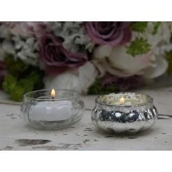 Świecznik Na Tealight Chic Antique Srebrny