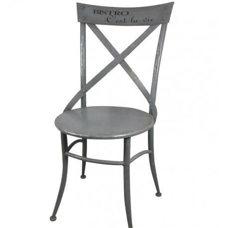 szare krzesło chic antique