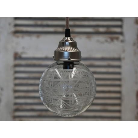 Ozdobna szklana lampa w kształcie kuli marki chic antique