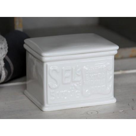 Prostokątny porcelanowy pojemnik