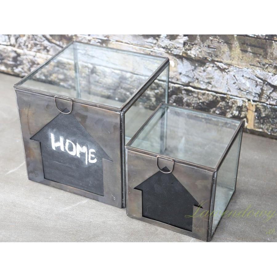 pojemnik szklany w stylu prowansalskim