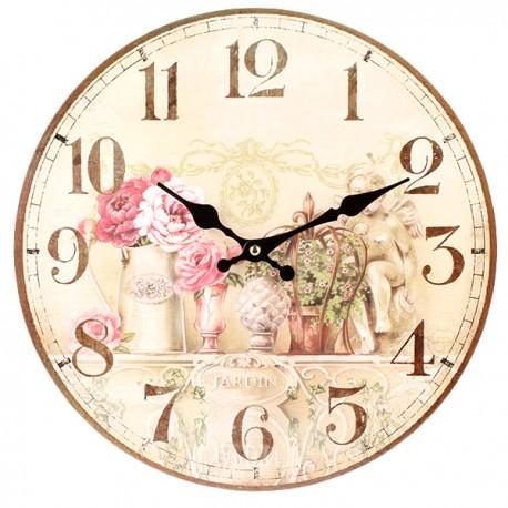 Jasny Zegar prowansalski z motywem kwiatowym
