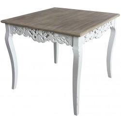 Stół w Stylu Prowansalskim Kwadratowy Amelia