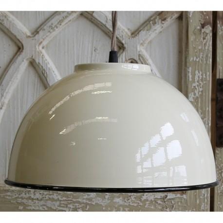 Kremowa lampa metalowa chic antique przypominająca kopułe