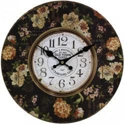 Zegar Retro z Kwiatami