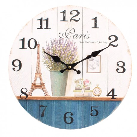 prowansalski jasny zegar ścienny