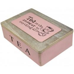 Pudełko Na Herbatę Różowe