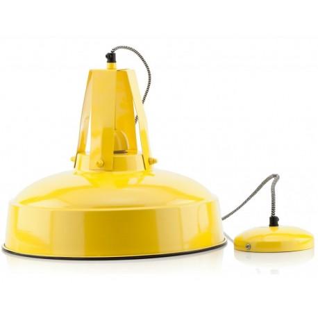 Żółta metalowa lampa loft