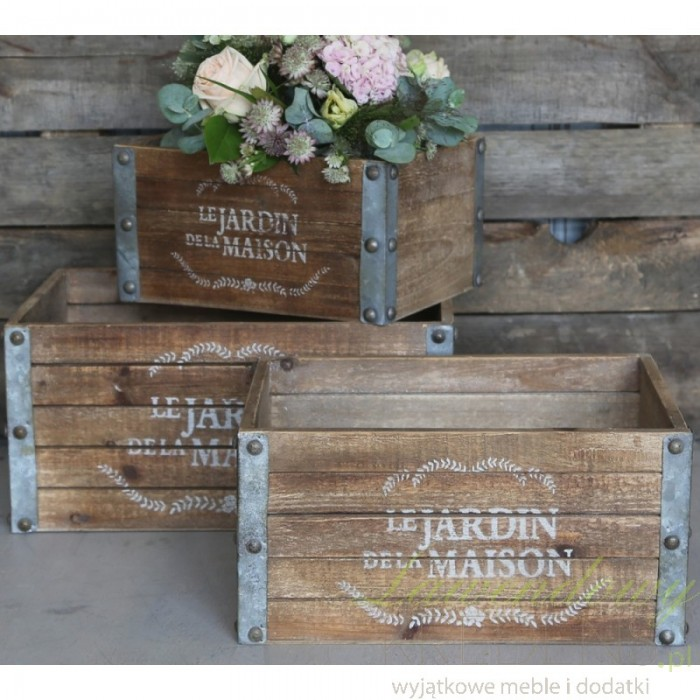 Drewniana Skrzynka Jardin B