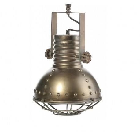 Stylowa lampa w stylu industrialnym, jak przystało na ten surowy styl została wykonana z metalu.