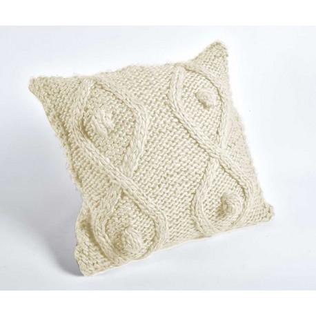 jasna poduszka wykonana z wełny i akrylu