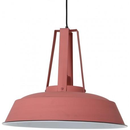 Lampa loftowa z metalu w kolorze różowym