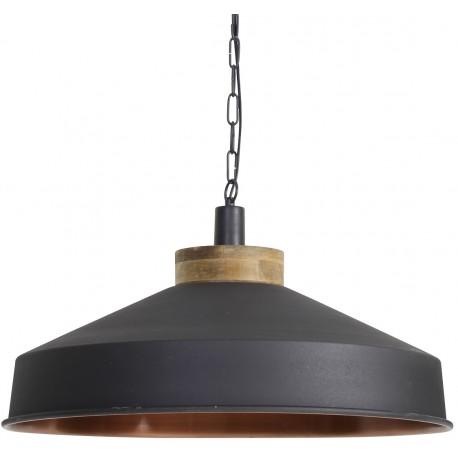 Czarna lampa metalowa loftowa