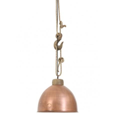 miedziana lampa z hakiem w stylu skandynawskim