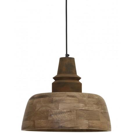 drewniana lampa