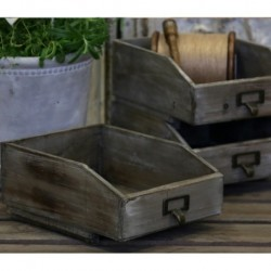 Drewniany Pojemnik Chic Antique