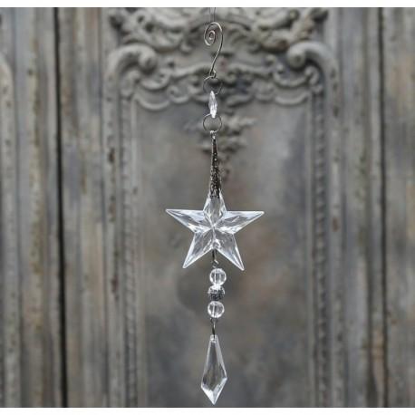Zawieszka wykonana z kryształka  kształcie gwiazdki