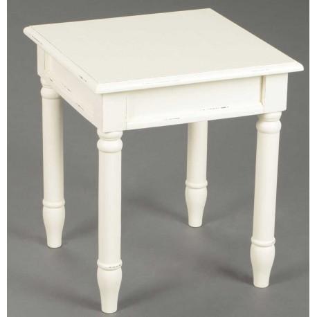 kremowy kwadratowy stolik