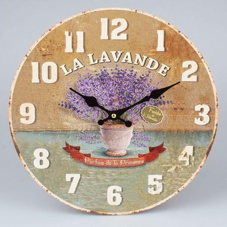 Zegar ścienny z motywem lawendy w pięknej kolorystyce