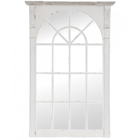 Lustro okno w białej ramie