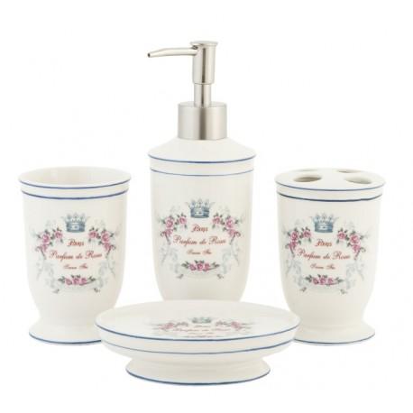 Oryginalny zestaw łazienkowy to komplet przydatnych w każdej łazience i toalecie pojemników.