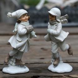 Figurki Świąteczne Chłopiec i Dziewczynka