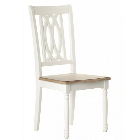 jasne krzesło z brązowym siedziskiem