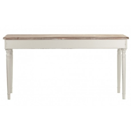 Duży jasny stół z bielnom blatem