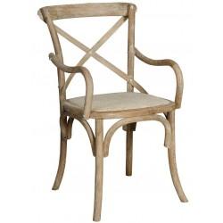 Krzesło Belldeco Dębowe Bari z Podłokietnikami