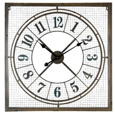Duży Zegar z metalową siatką to zdumiewająco stylowy zegar, który może stać się wyjątkową ozdobą Twojego salonu lub sypialni!